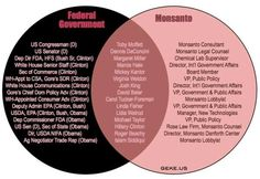 Monsanto- the love of the Demoncraps! They are ban in so many countries! Including Libtards in France! So what is wrong with our government? MONEY -GOVERNMENT OFFICIALS RECEIVE KICKBACKS FOR SUPPORT!