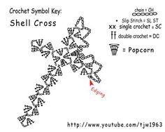 Crochet Geek - Free Instructions and Patterns           http://crochet-mania.blogspot.com/2008/12/crochet-shell-cross.html
