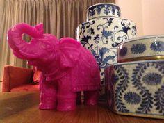 Dubai flat elephant candle