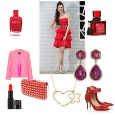 Jenna's entry in Favery's Love Mission is perfect for Valentine's Day; the star heart necklace would look perfect with this red dress