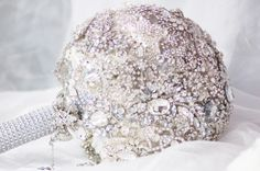 Extra large full brooch bouquet, by Krystal Kouture. Krystal, Bouquet, Brooch, Bunch Of Flowers, Crystal, Brooches, Floral Arrangements, Bouquets