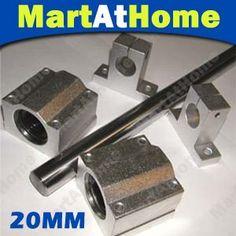 New 1000mm CNC Router Rail Shaft Bar Linear Pillow Block Rod Slide 20mm diameter #SM202 @EF