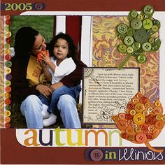 Create the Appearance of Fall Leaves on a Scrapbook page