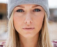 Blonde, beautiful, septum piercing