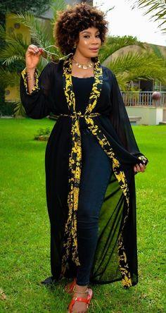 African Maxi Dresses, African Attire, African Wear, African Inspired Fashion, African Print Fashion, Kimono Fashion, Fashion Outfits, Latest Dress Design, Mode Kimono