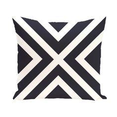 E by Design Convergence Decorative Pillow Navy Blue Polyester - PSN201BL14-18