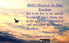 Liberate yourself from limiting beliefs and thoughts. Free your mind of negativity. www.awordeveryday.com