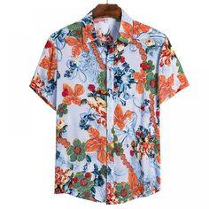 Buy Beach Hawaiian Shirt at www. Denim Shirt Men, Mens Flannel Shirt, Cheap Mens Shirts, Casual Shirts For Men, Plain Green T Shirt, Purple Dress Shirt, Shirt Dress, Shirt Outfit, Black Button Up Shirt
