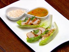 Cos lettuce cups with bugs and scallops I Love Food, Good Food, Masterchef Recipes, Masterchef Australia, Lettuce Cups, Scallop Recipes, Latest Recipe, Just Cooking, Scallops