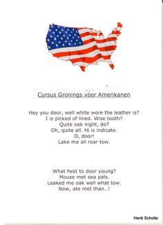 Cursus Gronings voor Amerikanen