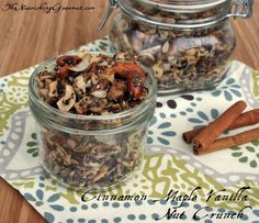 Cinnamon Maple Vanilla Nut Crunch Recipe (Gluten, Grain, Dairy Free)