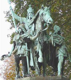 Charlemagne. Parvis de la Cathédrale Notre-Dame de Paris, XIXe