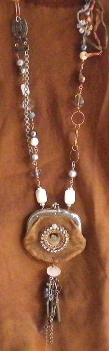 Kati Koos ~ Late October 2010 Newsletter// love, love, love, love this! Funky Jewelry, Jewelry Crafts, Jewelry Art, Vintage Jewelry, Handmade Jewelry, Jewelry Necklaces, Jewelry Design, Diy Schmuck, Schmuck Design