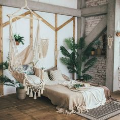 Boho Bedroom Decor has been growing in popularity with a lot of people for a reason. When it comes to decorating small spaces in your home, this design type is perfect for just about any type of room or space. Bohemian Bedroom Decor, Boho Room, Diy Bedroom Decor, Home Decor, Boho Style Decor, Garden Bedroom, Nature Bedroom, Earthy Bedroom, Bedroom Brown