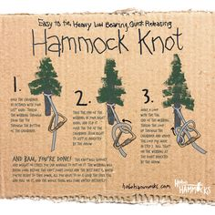 The Only Hammock Knot You'll Ever Need: How To Hang a Hammock! – Hobo Hammocks The Only Hammock Knot You'll Ever Need: How To Hang a Hammock! – Hobo Hammocks,Bushcraft, Survival Check out this. Bushcraft Camping, Camping And Hiking, Camping Survival, Camping Life, Outdoor Survival, Outdoor Camping, Camping Hacks, Survival Skills, Camping Ideas