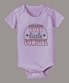 This Lavender 'Tuff Little Cowgirl' Bodysuit - Infant by Country Casuals is perfect! #zulilyfinds