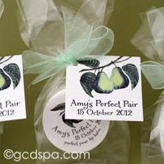 Perfect Pair Favors | Lip Balms with Perfect Pear Tags and Labels