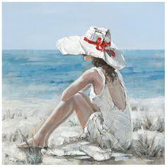 Leinwandbild Watching the Sea II Haus am Meer Monet Paintings, Wassily Kandinsky Paintings, Oil Painting On Canvas, Painting Prints, Canvas Art, Art Plage, Tableau Pop Art, Arte Country, Wave Art