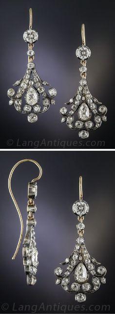 Victorian Diamond Drop Earrings