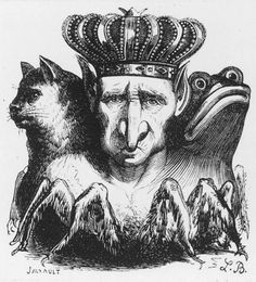 The demon Baal: man, cat, and toad. From Collin de Plancy's Dictionnaire infernal (1862).