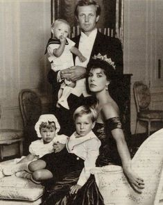 Princess Caroline, wearing the pearl tiara, in happier times with her second husband, Stefan Casiraghi
