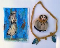 Brosche,Kette und ein Bild ...set von Galerie MIZUMI auf DaWanda.com