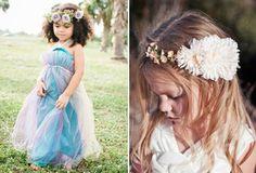 flower crowns for boho flower girls