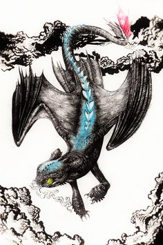 Alpha by MonoFlax.deviantart.com on @DeviantArt Got Dragons, Httyd Dragons, Toothless Dragon Tattoo, Night Fury Dragon, Dragon Movies, Dragon Rider, Beautiful Dragon, Dragon Art, How To Train Your Dragon