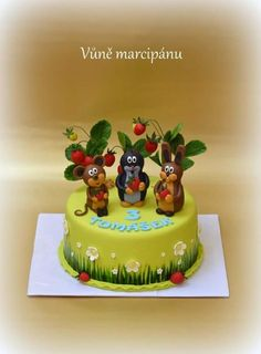 Mole and friends - Cake by vunemarcipanu Friends Cake, Cake Tutorial, Mole, Cake Art, Fondant, Baby Shower, Baby Cakes, Baking, Creative