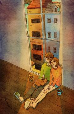 """♥ """"This will be our first home."""" ~ """"THIS IS WHAT LOVE LOOKS LIKE…"""" by Puuung at www.grafolio.com ♥"""