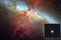 Hubble Zooms in on Historic Supernova SN 2014J