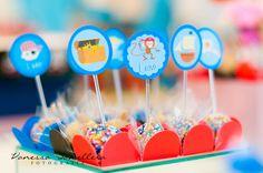 Festa Capitão Arthur e seus amigos Piratas! Topper para docinhos e cupcakes.