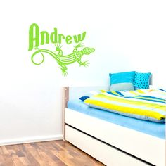 Custom Lizard Name, New Collection of Wall Decals and Wall Stickers