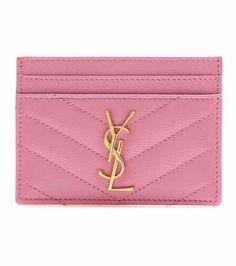 Monogram quilted leather card holder | Saint Laurent