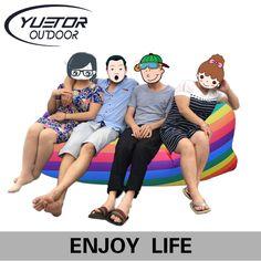 Yuetor 52 Beach lay bag Hangout sleep Air Bed Lounger laybag Outdoor fast folding sleeping inflatable air sofa lazy bag