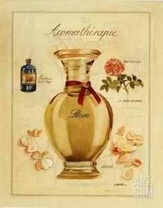 Aromatherapie, Rose Art Print by Laurence David at Art.com