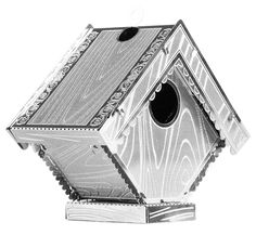 The Metal Earth Bird House models are amazingly detailed etched models that are fun and satisfying to assemble. Metal Earth Models, Metal Models, Thing 1, Unique Toys, Steel Sheet, Ideal Home, Bird, Outdoor Decor, Fun