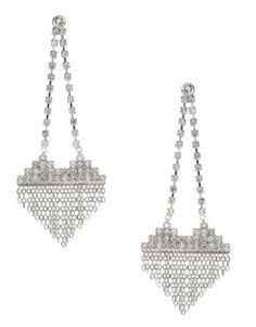 Lipsy Heart Chain Drop Earrings