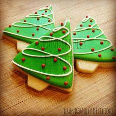 Grunderfully Delicious; simple design. Only need to mix two colours. Do these with wreaths....