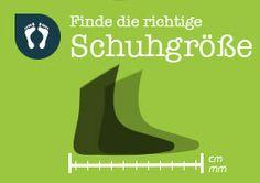 #Größentabelle, #finde die richtige Schuhgröße, #barfusslaufen.com