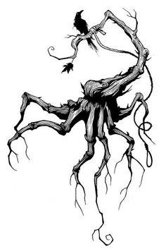 "Gris Grimly ""Evil Tree"""