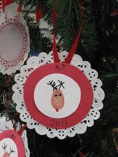 Clever Ornament Idea via Mrs. Morrows Kindergarten blog