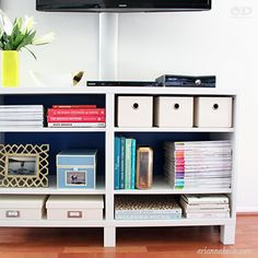 Ever wish there were some things in your cabinet you could hide? Let Arianna Belle Blog show you how.