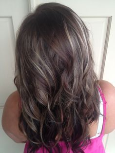 brown hair with gray highlights - Google Search