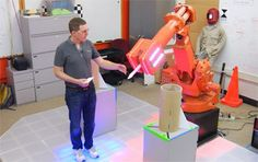 Daniel Huber, of the Carnegie Mellon University Robotics Institute, explains the Intelligent Workcell Project during public tours in April Carnegie Mellon, National Science Foundation, Mission Accomplished, Education, Robots, Projects, Youtube, Federal, Robotics
