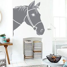 Horse Head Vinyl Decals Wall Sticker Art Design by VinylDecals2U, $24.65