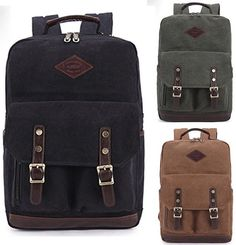 New Vintage Mens England Casual Canvas Laptop School Satchel Bag Hiking Backpack