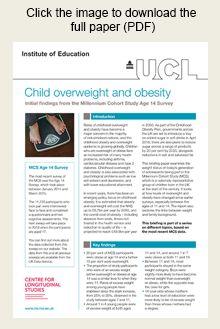 One in five young people obese at age 14 - Centre for Longitudinal Studies
