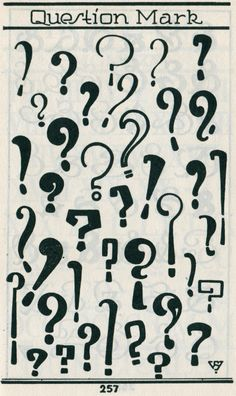 "Question Mark istinia: "" Question marks from Samuel Welo, 1960. """