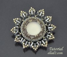 Anais Brooch is a beautiful brooch made with new triangle beads with two hole. Size of the brooch is 4.9 mm diameter. You can make a pendant using this..